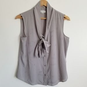 Calvin Klein sleeveless tie neck blouse
